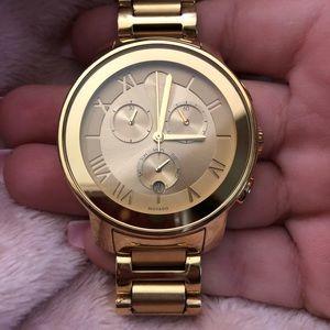 Movado Bold Unisex Gold watch